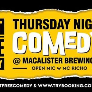 Macalisters Thursday Night Comedy