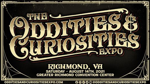 Richmond Oddities & Curiosities Expo 2021, 14 August | Event in Richmond | AllEvents.in