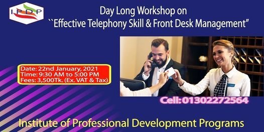 Day long workshop on ``Effective Telephony Skill & Front Desk Management"