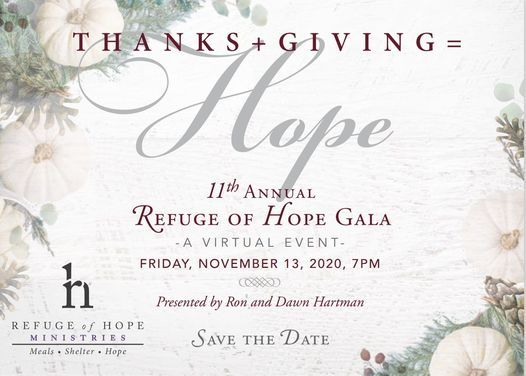 Thanks + Giving = Hope Gala, 14 November | Online Event | AllEvents.in