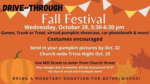 Halloween Festival Oct 28 2020 Fall Festival (Drive Through Event), Wed Oct 28 2020 at 05:30 pm