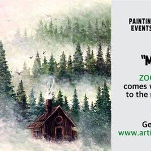 Misty Pines - Paint Night on Zoom