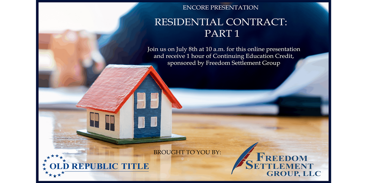 Encore Presentation Online Residential Contract Part One 1ce Credit At Online Online