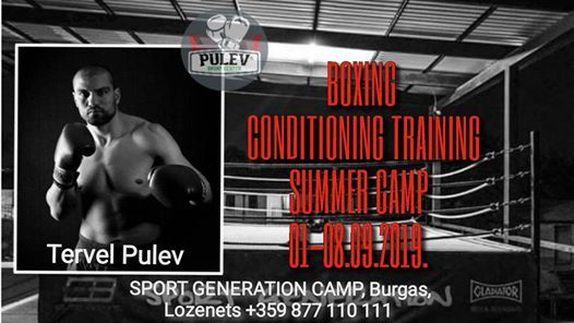 BOXING, CONDITIONING TRAINING SUMMER CAMP 01-08 09 2019  at