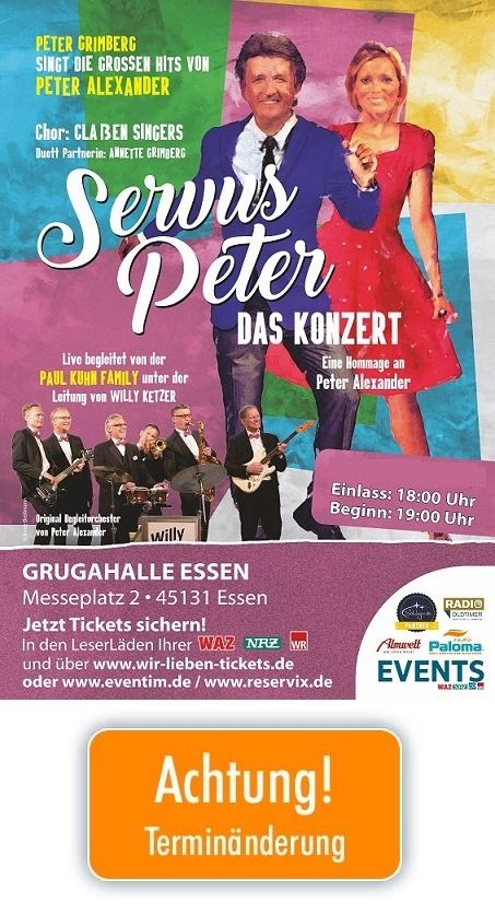 Servus Peter - Das Konzert, 11 September | Event in Essen | AllEvents.in