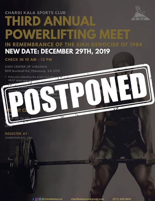 CKSCs 3rd Annual Powerlifting Meet