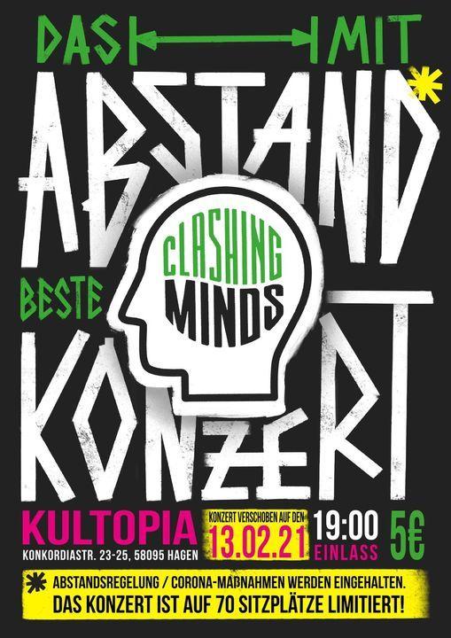 Das mit Abstand beste Clashing Minds Konzert - Ersatztermin, 4 September   Event in Hagen   AllEvents.in
