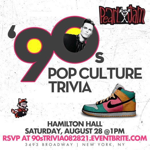 90s Pop Culture Trivia, 28 August   Event in Palisades Park   AllEvents.in