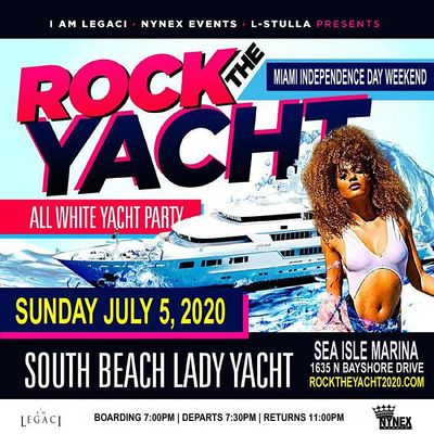 ROCK THE YACHT 2020 INDEPENDENCE DAY WEEKEND ALL WHITE YACHT PARTY