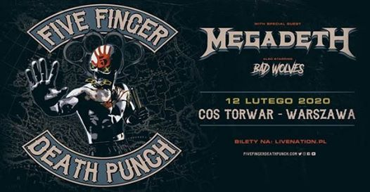 Five Finger Death Punch Official Event COS Torwar 12.02.2020