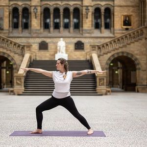 Yoga at the Natural History Museum