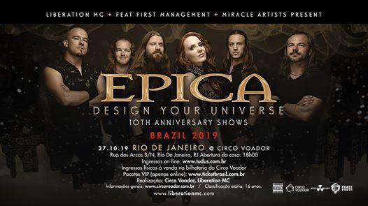 Epica no Rio de Janeiro 2019