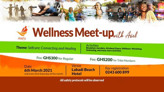 Wellness Meet-Up with Ariel, 5 June   Event in Accra   AllEvents.in