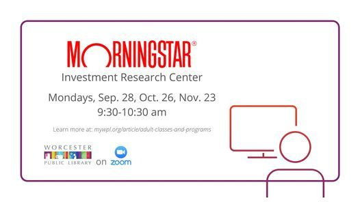 Morningstar Investment Research Center, 23 November | Online Event | AllEvents.in