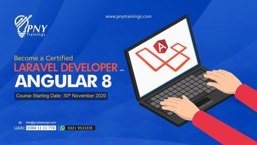 Become a Certified Laravel Developer with Angular 8 (Arfa Tower), 30 November   Event in Gujranwala   AllEvents.in