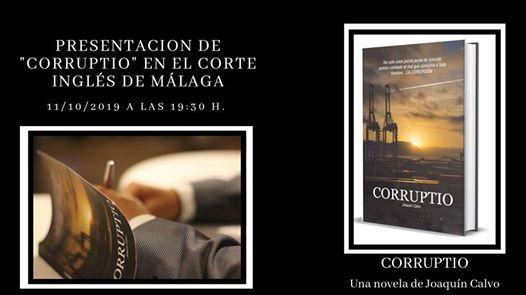 Presentacin de la novela Corruptio en El Corte Ingls Mlaga