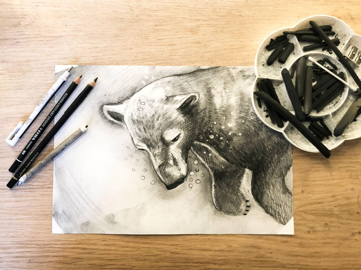 Mindful Charcoal Drawing Class, art class | Online Event | AllEvents.in