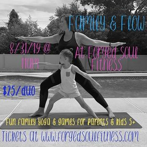 Family & Flow Fun Yoga Workshop at Forged Soul Fitness