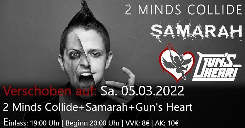 2 Minds Collide + Samarah + Gun's Heart, 5 March | Event in Saarbrücken | AllEvents.in