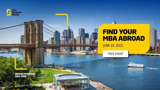 The Student World Virtual Fair - MBA, 16 June | Online Event | AllEvents.in
