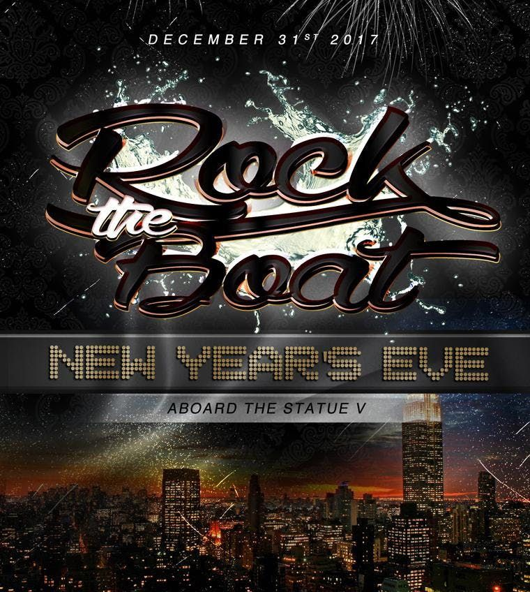 Rock The Boat NYC New Years Eve Fireworks Party Cruise Bay State NYE 2020