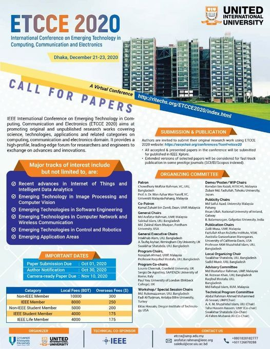 IEEE ETCCE 2020: International Conference, 21 December | Event in Dhaka | AllEvents.in