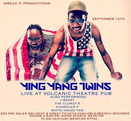 Ying Yang Twins Christmas.Ying Yang Twins Bend At Volcanic Theatre Pub Bend