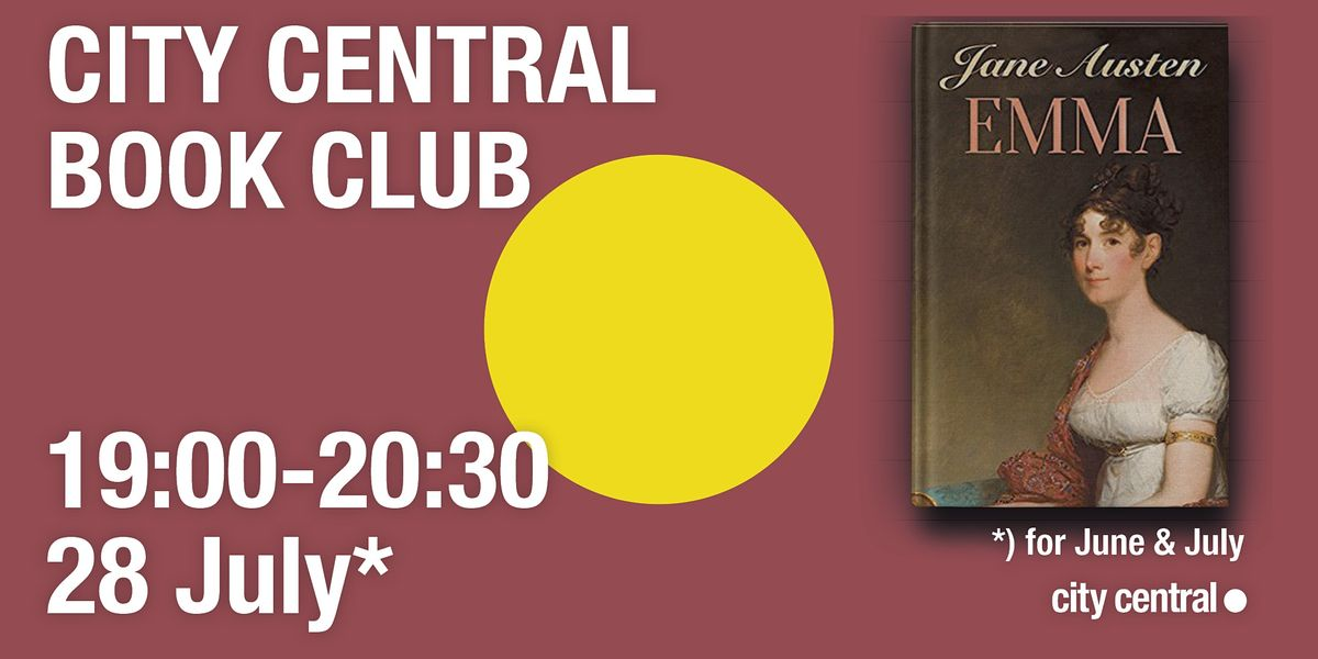 City Central Book Club: Emma, 28 July | Online Event | AllEvents.in