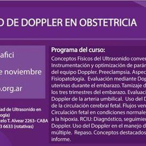 Curso de Doppler en Obstetricia (e-learning) 3era edicin
