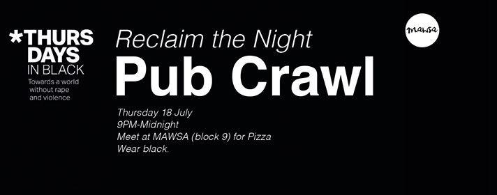 MAWSA Re OWeek Reclaim the Night Pub Crawl