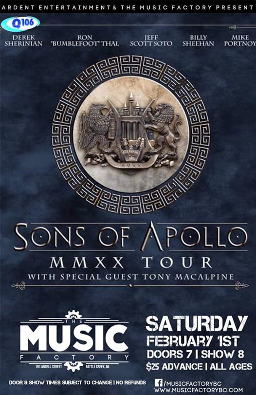 Sons of Apollo at The Music Factory  Battle Creek MI