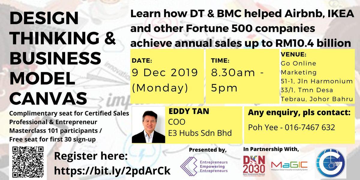 Design Thinking And Business Model Canvas Workshop (Johor