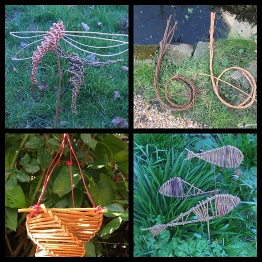 Willow workshop create your own bird feeders and garden items