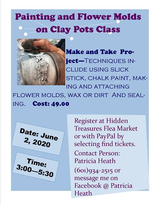Clay Pot Painting and Molds Class