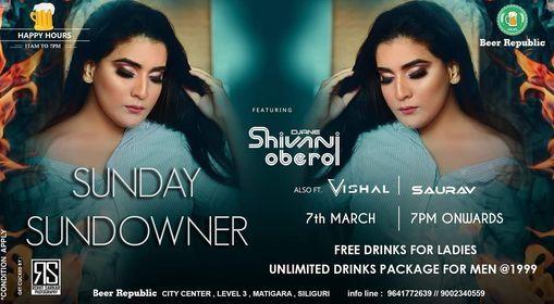 Sunday Sundowner ft DJane Shivani Oberoi, 7 March | Event in Siliguri | AllEvents.in