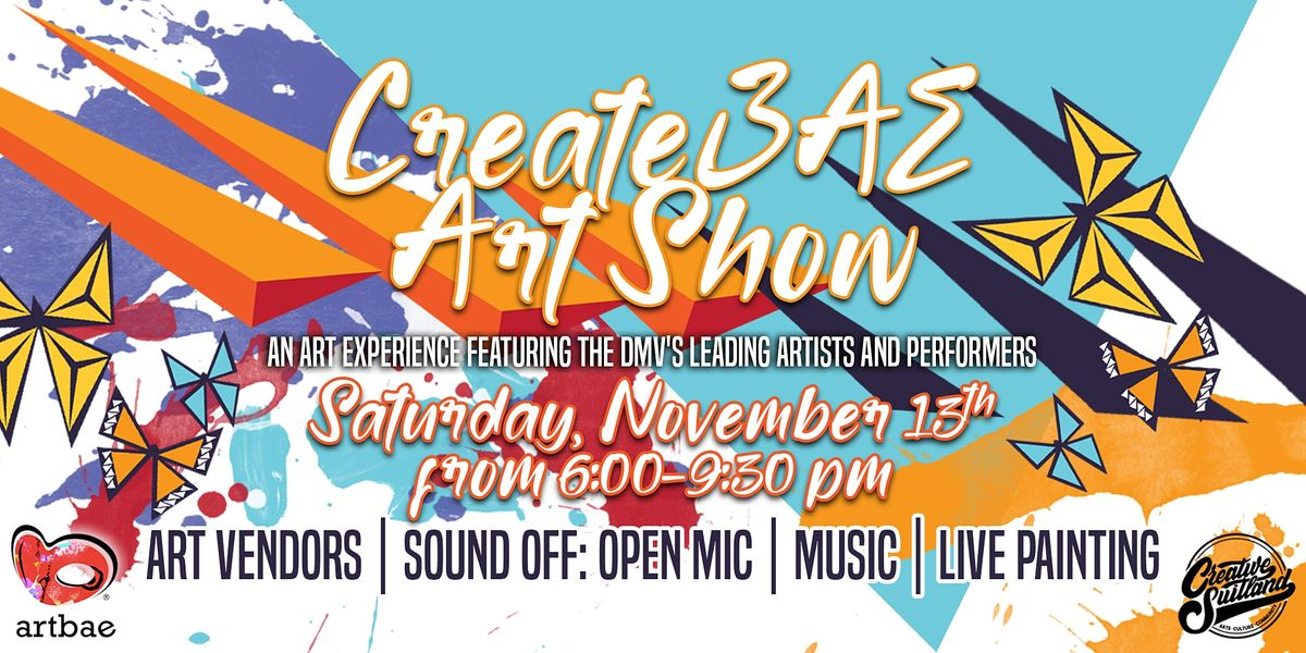 CreateBAE Art Show, 13 November   Event in Suitland-Silver Hill   AllEvents.in