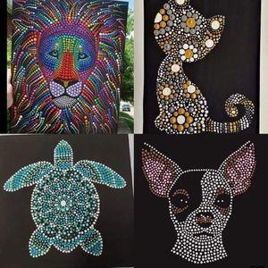 Mandala Dot Animal Painting