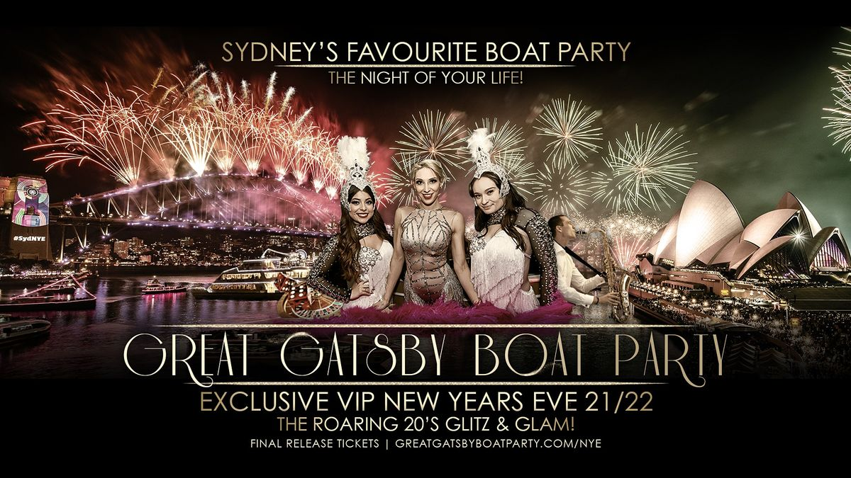 NYE Sydney | Great Gatsby Boat Party 2021/22, 31 December | Event in Sydney | AllEvents.in