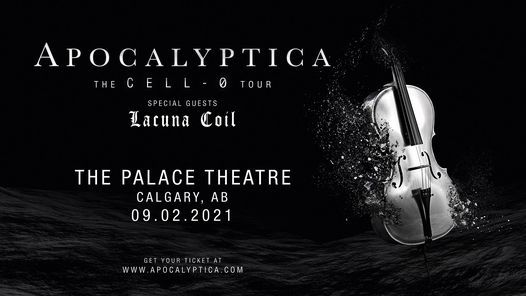 Rescheduled: Apocalyptica – Cell-0 Tour, 2 September | Event in Calgary | AllEvents.in