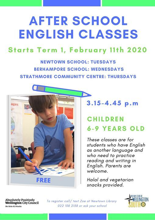 After School English Classes - on hold during Covid -19