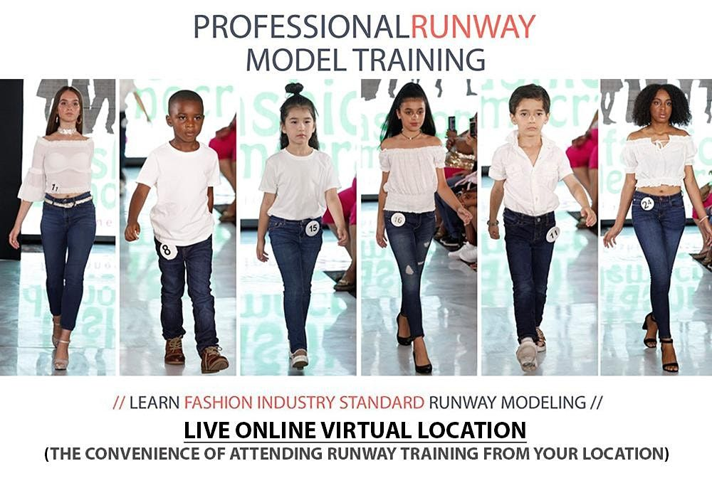 KIDS Professional Model Runway Training With Live-Virtual In Person Trainer, 27 March | Online Event | AllEvents.in