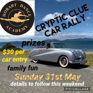 Save the Date  HDA Cryptic Car Rally