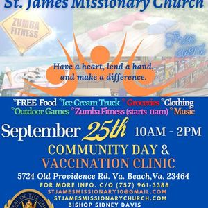 St. James Community Day & Vaccination Clinic (FREE EVENT)