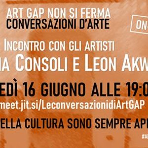 Incontro con gli artisti Annamaria Consoli e Leon Akwadal