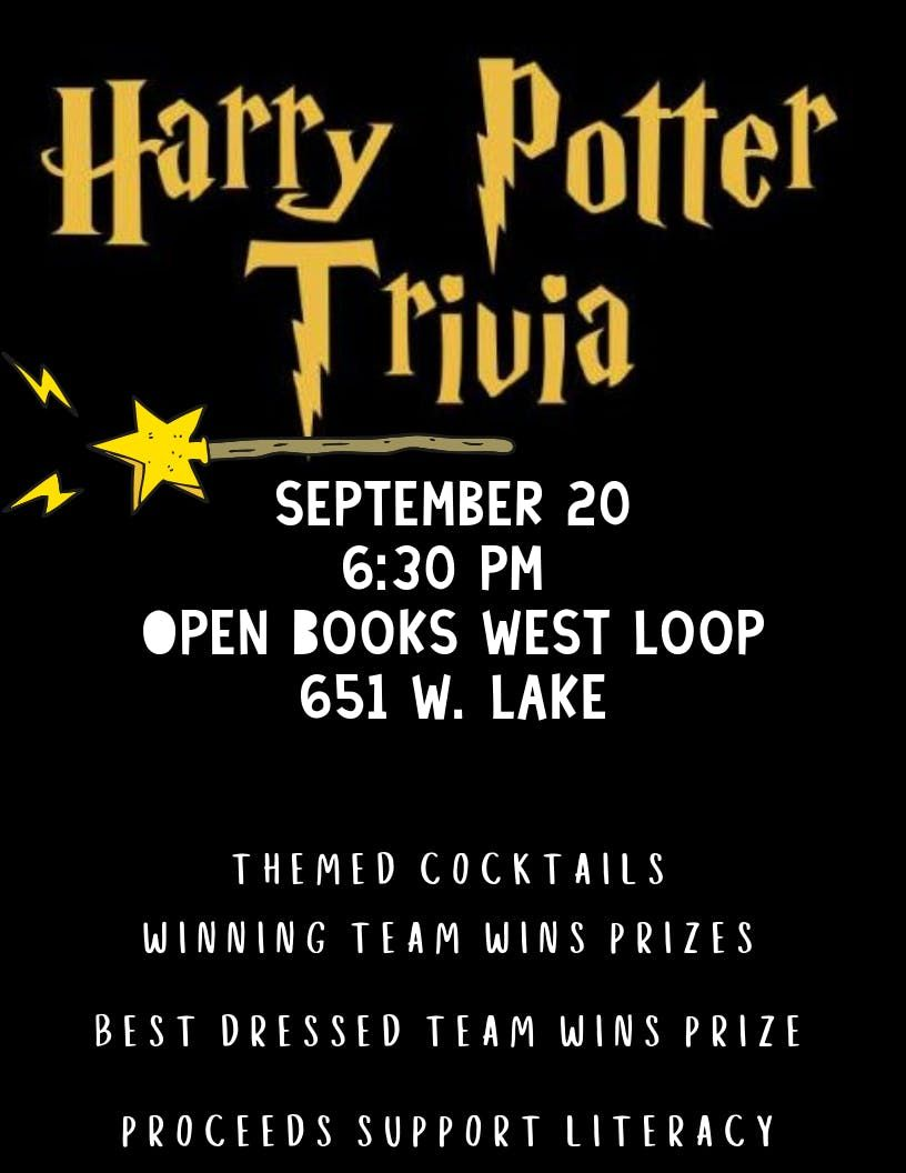 Harry Potter Trivia at Open Books West Loop | Chicago