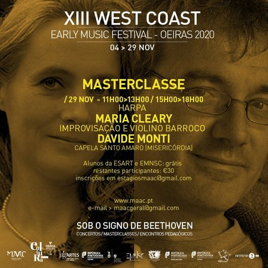 Masterclass - XIII West Coast Early Music Festival Oeiras, PORTUGAL, 29 November | Event in Oeiras | AllEvents.in
