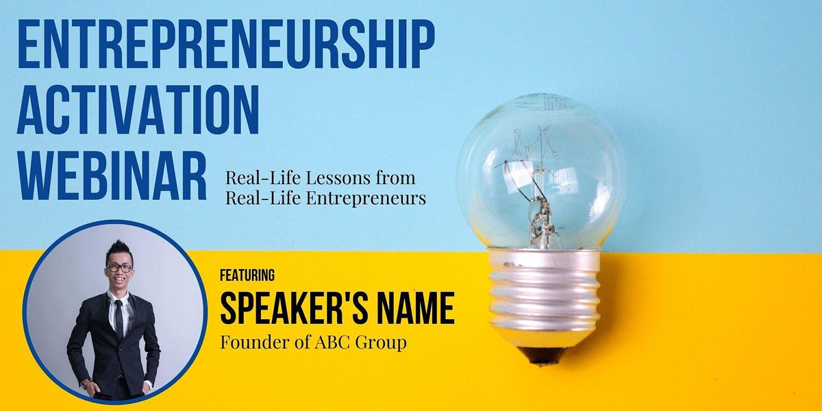 Entrepreneurship Activation Webinar feat. Chealers Chang, Founder of ABC, 24 October   Event in Kuala Lumpur