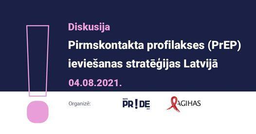 """Diskusija """"Pirmskontakta profilakses (PrEP) ieviešanas stratēģijas Latvijā"""""""