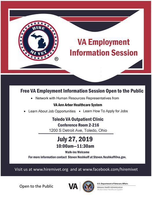 VA Employment Information Session at Hire MI Vet, Ann Arbor