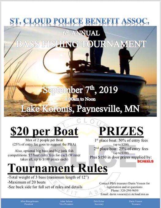 PBA Annual Bass Fishing Tournament at Lake Koronis, Eden Valley